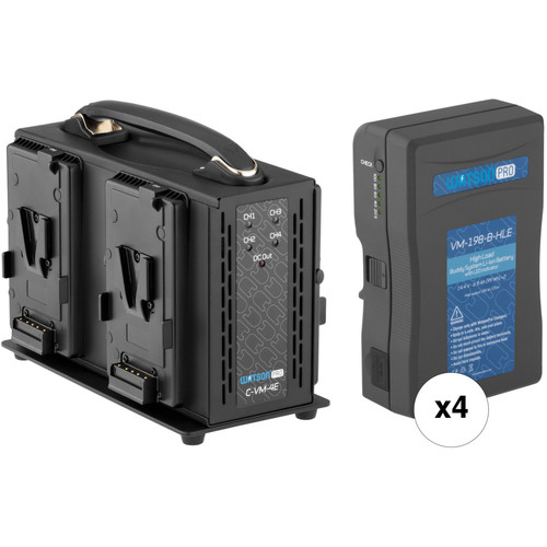 Watson Pro Buddy System High-Load V-Mount Battery Kit with Four-Bay Charger