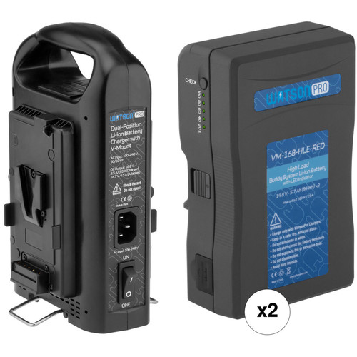 Watson Pro Buddy System High-Load V-Mount Battery Kit with Dual Bay Charger