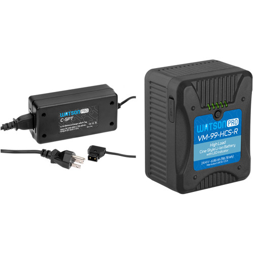 Watson Pro Cine High-Load V-Mount Battery Kit with D-Tap Charger