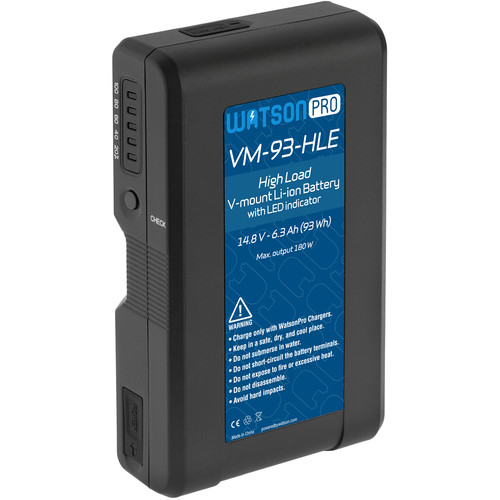 Watson Pro Four 15A High-Load 14.8V 93Wh Batteries & Quad Position Charger Kit (V-Mount)