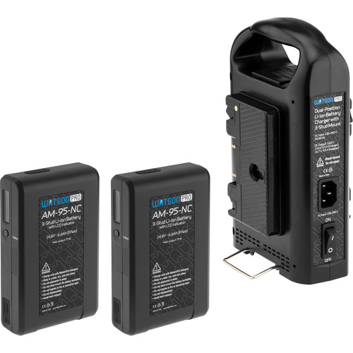 Watson Pro Two 14.8V 97Wh Batteries with LCD & Dual Position Charger Kit (Gold Mount)