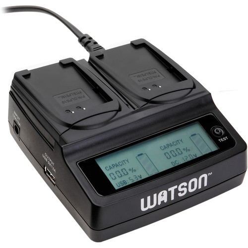 Watson Duo LCD Charger with 2 LP-E10 Plates