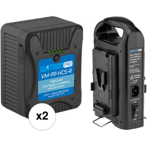 Watson Watson Pro Cine High-Load V-Mount Battery Kit with Dual-Bay Charger