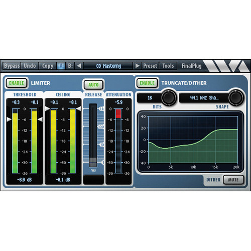 Wave Arts FinalPlug Mastering Peak Limiter and Volume Maximizer Plug-In Native