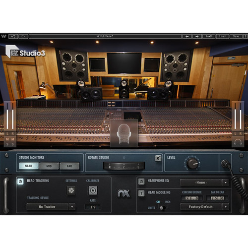 Waves Abbey Road Studio 3 with Nx Head Tracker - Referencing Plug-In with Matching Hardware