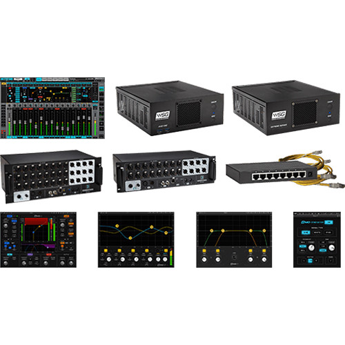 Waves Axis One + Emotion LV1 40-Preamp Stagebox and Extreme C Server
