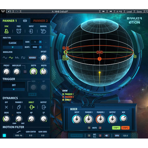 Waves Brauer Motion - Circular Stereo Auto-Panning Software for Mixing and Sound Design (Download)