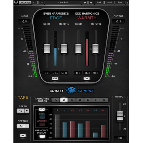 Waves Cobalt Saphira - Harmonics Shaping Plug-In (Native/SoundGrid, Download)