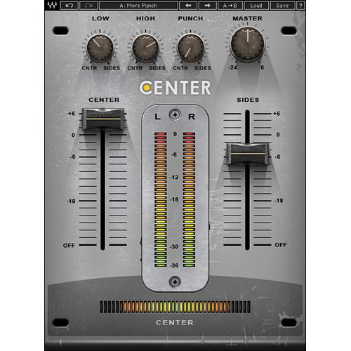 Waves Center - Spatial Imaging Adjustment Plug-In (Native/SoundGrid, Download)