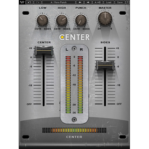 Waves Center - Spatial Imaging Adjustment Plug-In (Native/SoundGrid, Download)