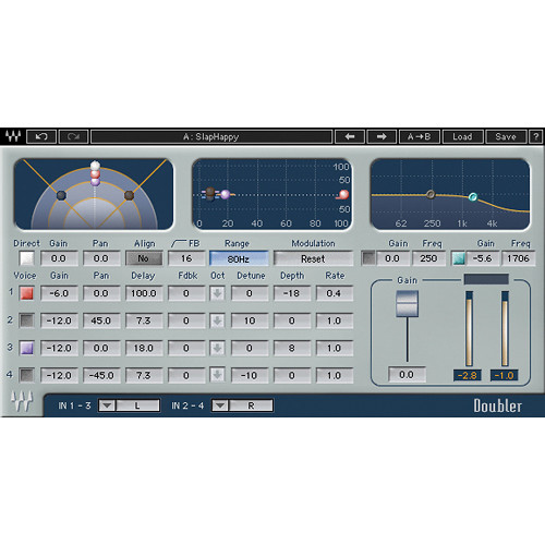 Waves Doubler - Double Tracking Effects Plug-In (Native/SoundGrid, Download)