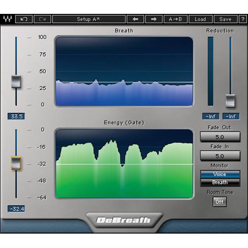Waves DeBreath - Breath Detection Plug-In (Native/SoundGrid, Download)