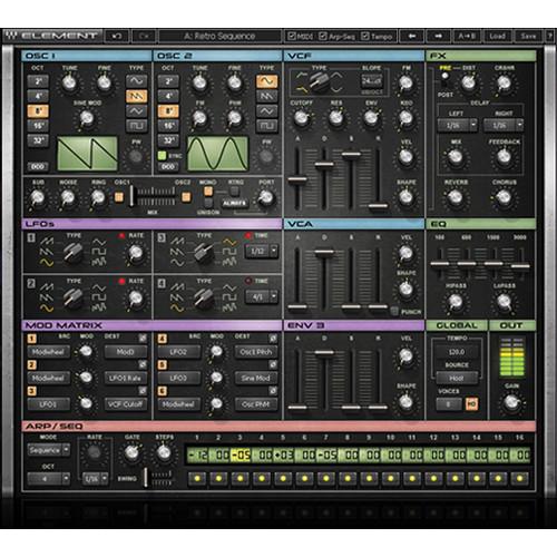 Waves Element Virtual-Analog Synthesizer Plugin