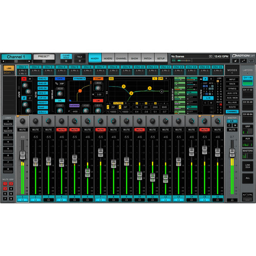 Waves eMotion LV1 32 Stereo Channels - Live Mixer Software (Download)