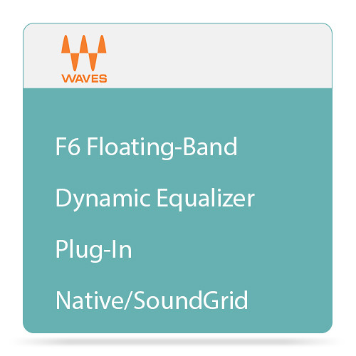 Waves F6 Floating-Band Dynamic Equalizer Plug-In (Native/SoundGrid, Download)