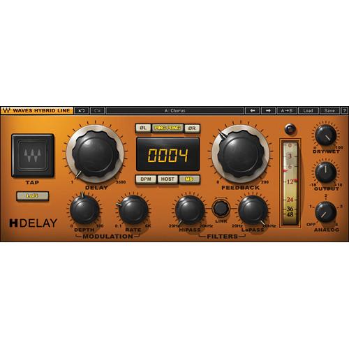 Waves H-Delay Hybrid Delay - Delay Plug-In (Native/SoundGrid, Download)