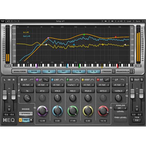 Waves H-EQ Hybrid Equalizer - EQ Plug-In (Native/SoundGrid/Venue, Download)