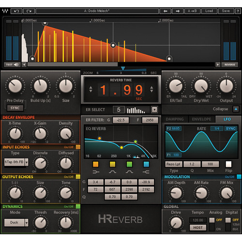 Waves H-Reverb - Hybrid Reverb Plug-In (Native/SoundGrid, Download)