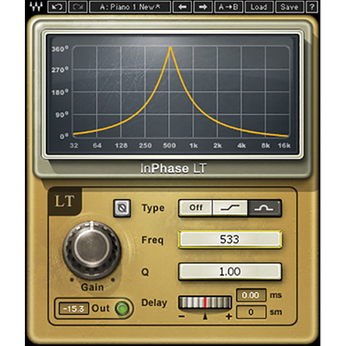 Waves InPhase LT - Simplified Phase Correction Plug-In (Native/SoundGrid, Download)