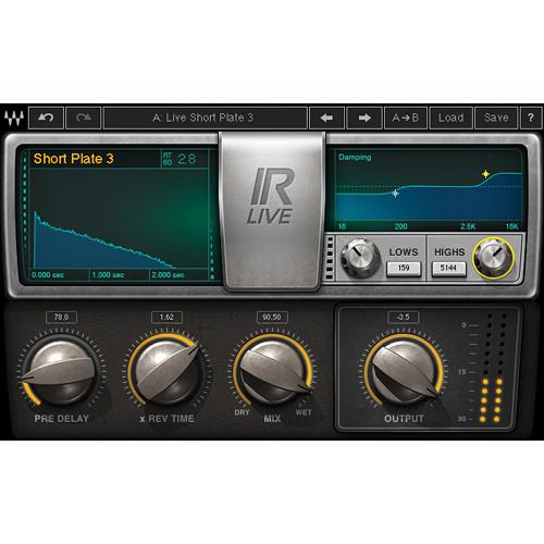 Waves IR-Live Convolution Reverb - IR-Based Reverb Plug-In (Native/SoundGrid, Download)