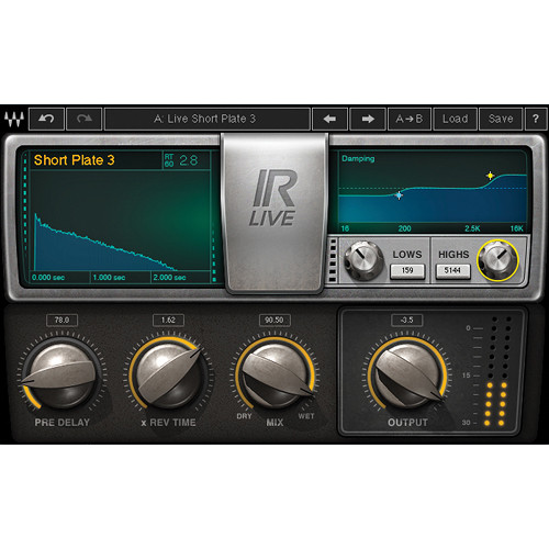 Waves IR-Live Convolution Reverb - IR-Based Reverb Plug-In (Native/SoundGrid, Download)