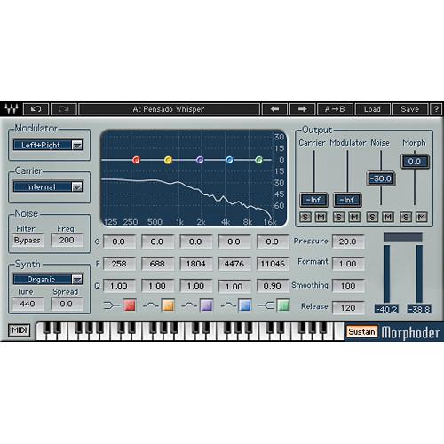 Waves Morphoder - Vocoder Plug-In (TDM/Native/SoundGrid, Download)