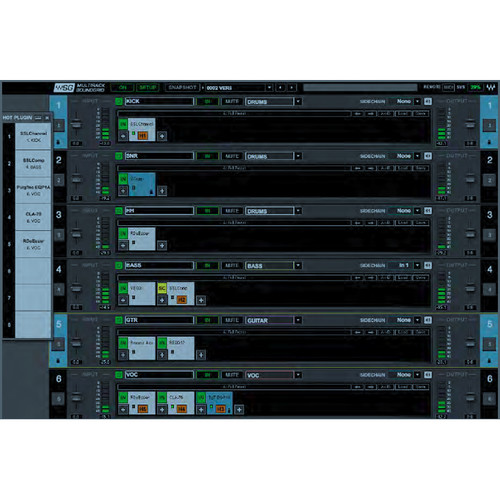 Waves MultiRack SoundGrid Software for Front Of House and Monitor Engineers (Native License Included, Download)