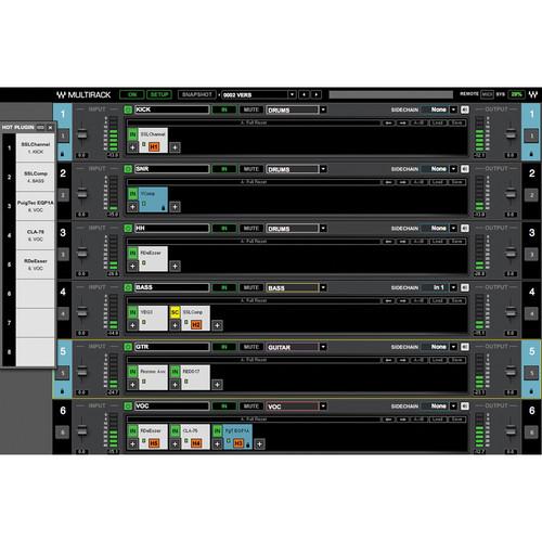 Waves MultiRack - Software Host for Live Applications (Native/SoundGrid, Download)