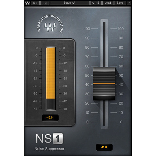 Waves NS1 Noise Suppressor - Automatic Noise Suppression Plug-In (Native/SoundGrid, Download)