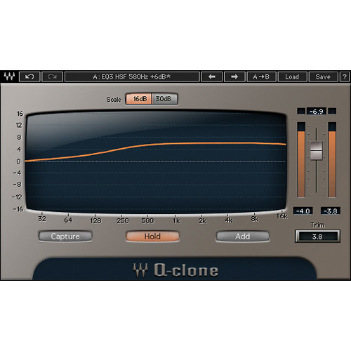 Waves Q-Clone - EQ Preset Modeling Plug-In (Native/SoundGrid, Download)