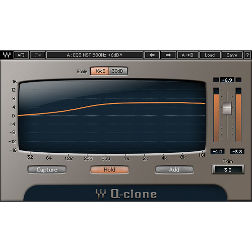 Waves Q-Clone - EQ Preset Modeling Plug-In for Native Systems (Download)