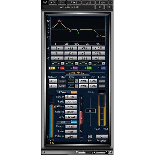 Waves Renaissance Channel - Channel Strip Plug-In (Native/SoundGrid, Download)