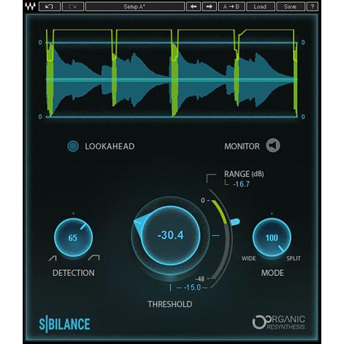 Waves Sibilance - Vocal De-Esser Software for Pro Audio Applications (Download)