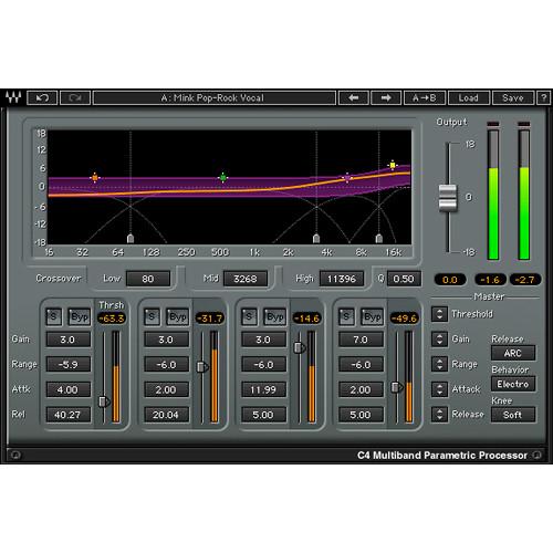 Waves C4 Multiband Compressor Dynamics Processor Plug-In (Native/SoundGrid, Download)