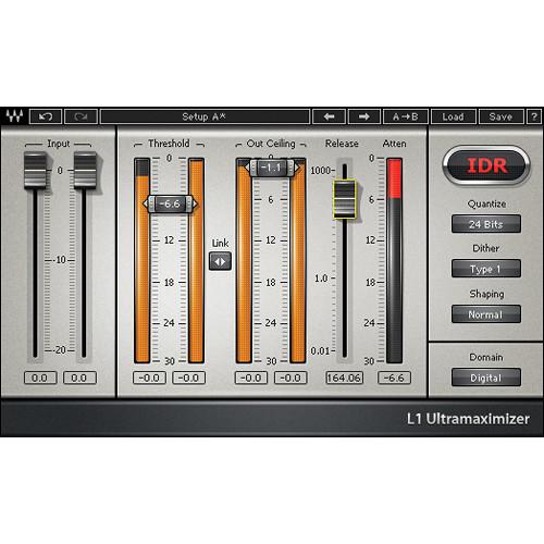 Waves L1 Ultramaximizer - Loudness Maximizer Plug-In (Native/SoundGrid, Download)