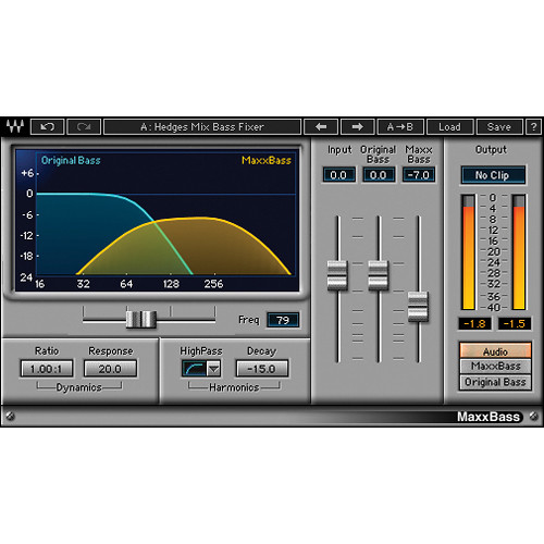 Waves MaxxBass - Bass Enhancement Plug-In (Native/SoundGrid, Download)