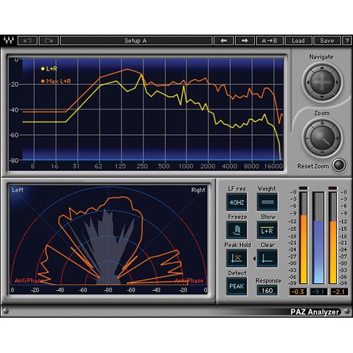 Waves PAZ Analyzer - Audio Signal Analyzer Plug-In (Native/SoundGrid, Download)