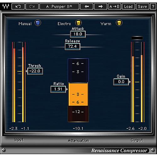 Waves Renaissance Compressor - Dynamics Plug-In (Native/SoundGrid, Download)