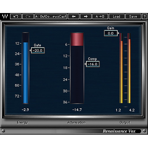 Waves Renaissance Vox - Dynamics Processor Plug-In (Native/SoundGrid, Download)
