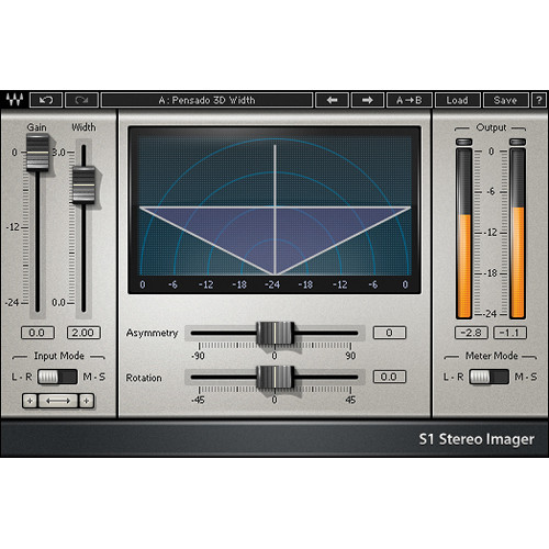Waves S1 Stereo Imager - Stereo Enhancement Plug-In (Native/SoundGrid, Download)