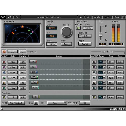 Waves SuperTap - Analog Style Delay Plug-In (Native/SoundGrid, Download)