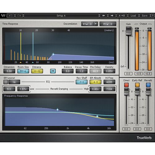 Waves TrueVerb - Real Room Simulation Plug-In (Native/SoundGrid, Download)