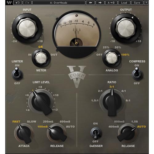 Waves V-Comp - Vintage Hardware Compressor Plug-In (Native/SoundGrid, Download)