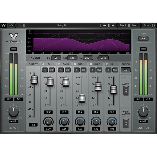 Waves Vitamin Sonic Enhancer - Multiband Harmonic Enhancer Plug-In (Native/SoundGrid, Download)