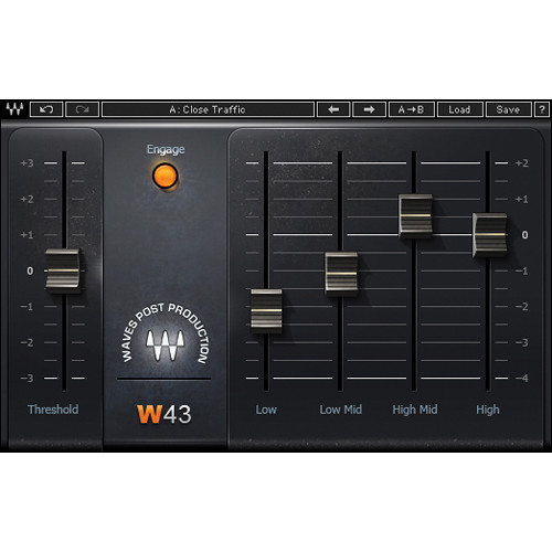 Waves W43 Noise Reduction Plug-In (Native/SoundGrid, Download)