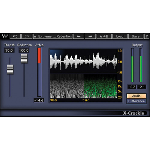Waves X-Crackle - Surface Noise and Crackle Removal Plug-In (Native/SoundGrid, Download)