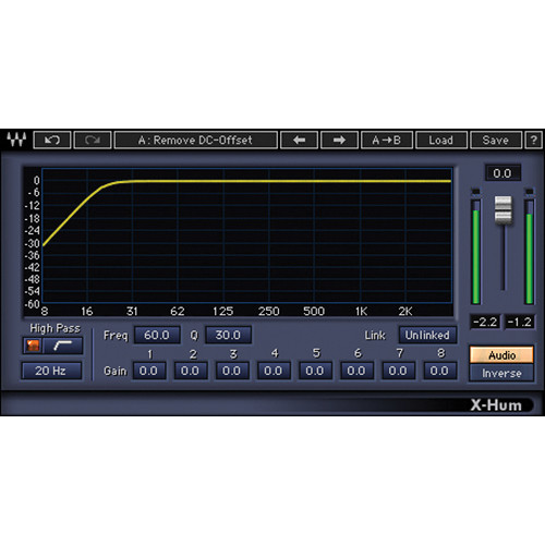 Waves X-Hum - Hum Removal Plug-In (Native/SoundGrid, Download)