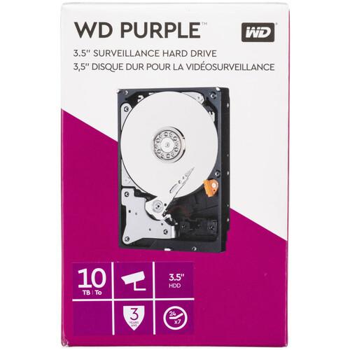 """WD 10TB Purple 5400 rpm SATA III 3.5"""" Internal Surveillance Hard Drive Kit (2-Pack, Retail)"""