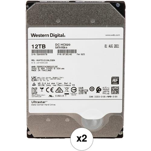 "WD 12TB Ultrastar 7200 rpm SATA 3.5"" Internal Data Center HDD Kit (2-Pack, Retail)"