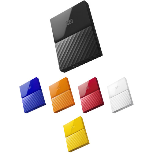 WD 1TB My Passport USB 3.0 Secure Portable Hard Drive Kit (Multiple Colors)